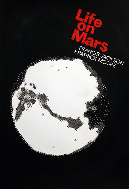 ADAM NORTON  Life On Mars  2012 vinyl on paper 50 ×34 cm
