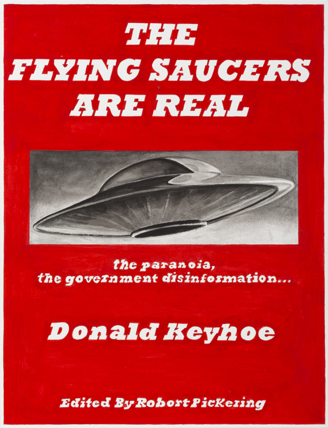 ADAM NORTON  The Flying Saucers Are Real  2013 vinyl on paper 48 × 37 cm