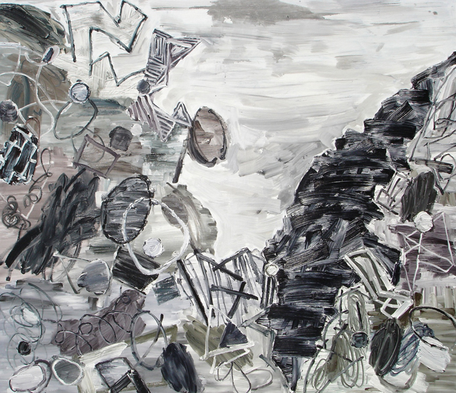 STUART WATTERS  The Residue of Culture  2013  oil on canvas 183 × 214 cm