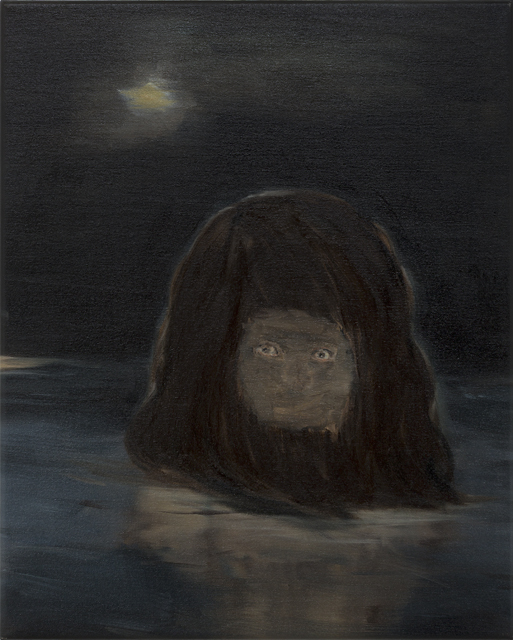 JELENA TELECKI  Back of my mind (The Sea of Guilt)  2013 oil on canvas 54 × 41 cm