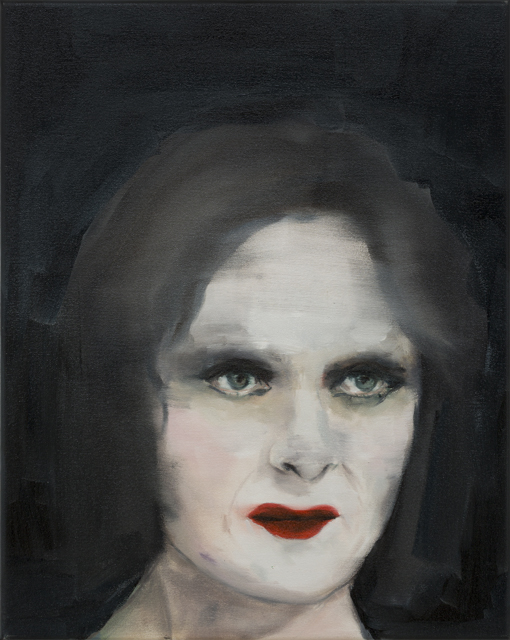 JELENA TELECKI  Diva  2013 oil on canvas 51 × 41 cm