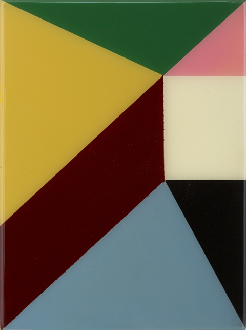SIMON BLAU  Untitled 2  2012 enamel and resin on board 40 × 30 cm
