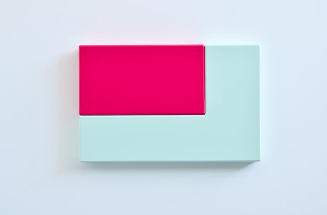 SUZIE IDIENS  Green Pink  2012 MDF, Polyurethane 40 ×62 ×7 cm