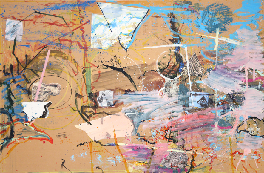MICHAEL TAYLOR  Between Tides  2005 mixed media on cardboard 175 × 267 cm