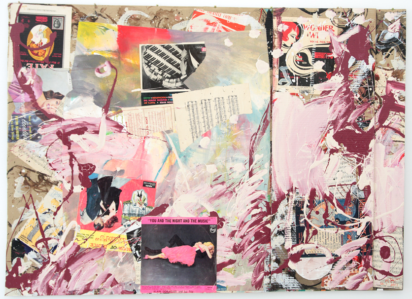 MICHAEL TAYLOR  Cherry  2001 mixed media on cardboard 115 × 161 cm