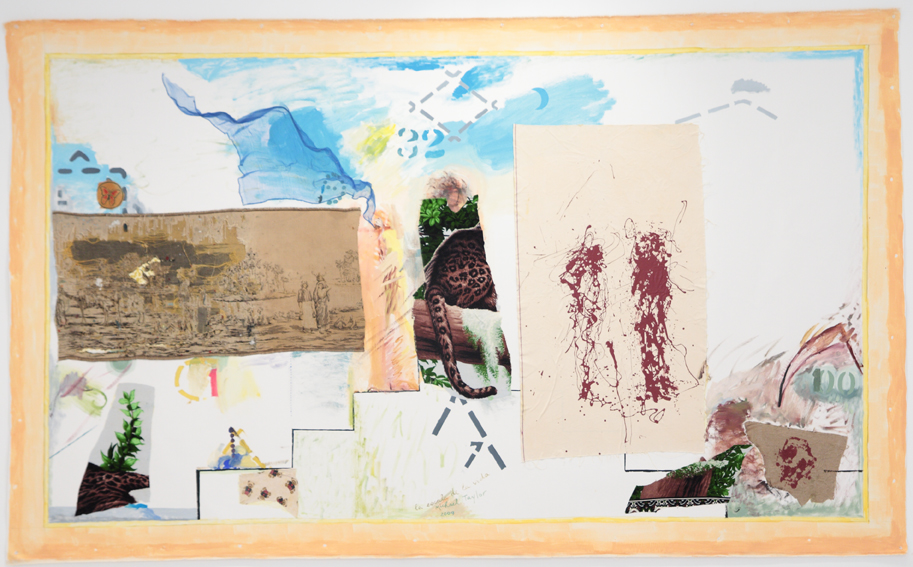 MICHAEL TAYLOR  Stairway    2009 mixed media on canvas 184 × 302 cm