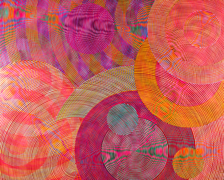 JOHN ASLANIDIS  Sonic Network No.2  2006 oil and acrylic on canvas 244 × 305 cm