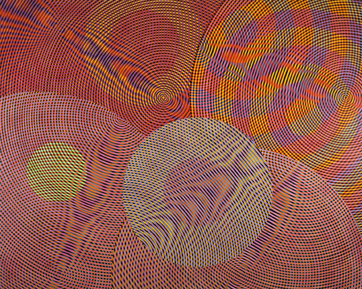 JOHN ASLANIDIS  Sonic Network no. 13  2013 oil and acrylic on canvas 244 ×305 cm