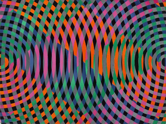 JOHN ASLANIDIS  Sonic sub fragment no. 18  2012 oil and acrylic on linen 30 ×40 cm