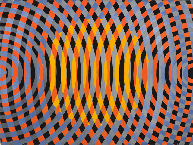 JOHN ASLANIDIS  Sonic sub fragment no. 28  2013 oil and acrylic on linen 30 ×40 cm