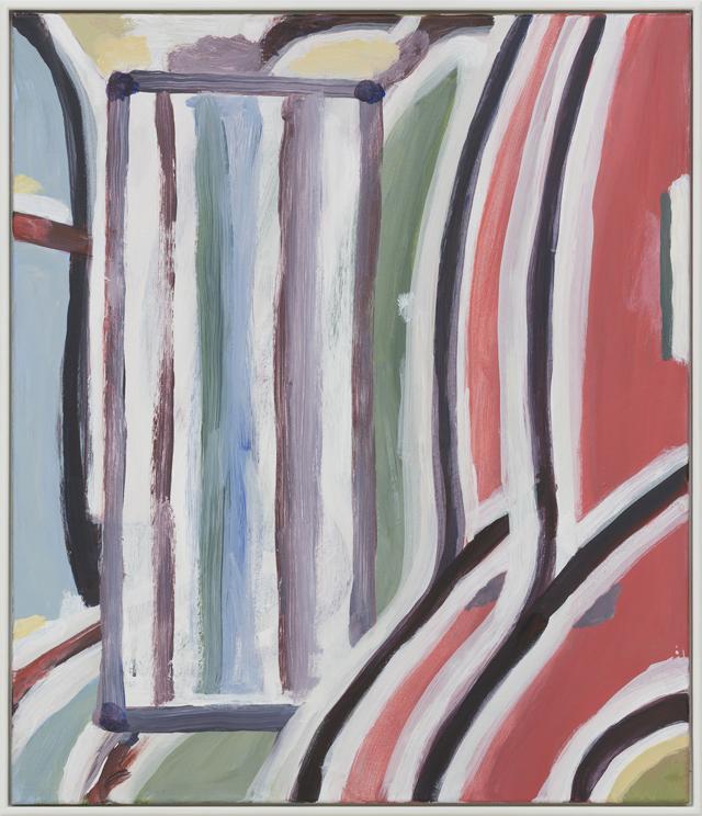 SIMON BLAU  Obstruction  2012 acrylic on canvas 70 ×60 cm