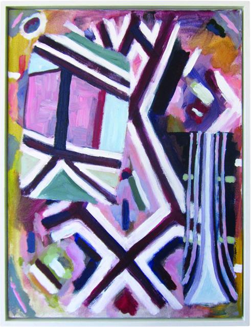 SIMON BLAU  Thought  2012 acrylic on canvas 60.5 x 45.5 cm