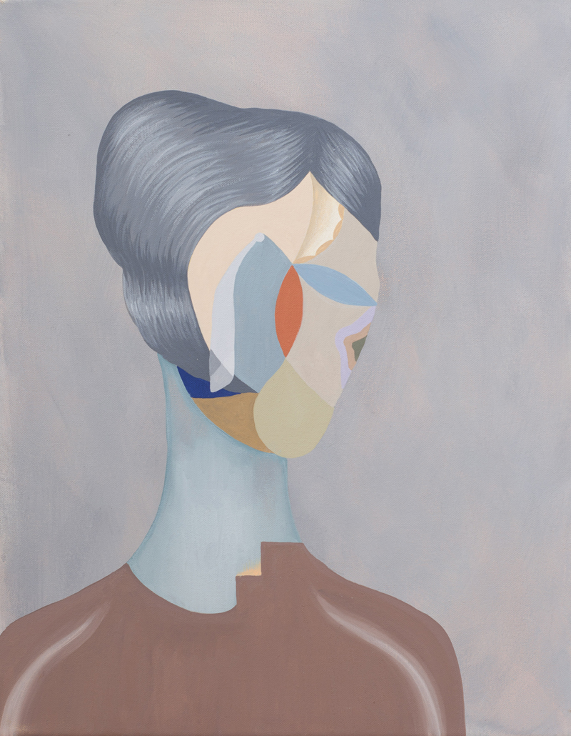 MICHELLE HANLIN  Eye of the Storm  2011 acrylic on canvas 45.5 ×35.5 cm