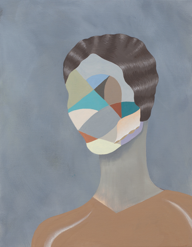 MICHELLE HANLIN  Stranger  2011 acrylic on canvas 45.5 ×35.5 cm