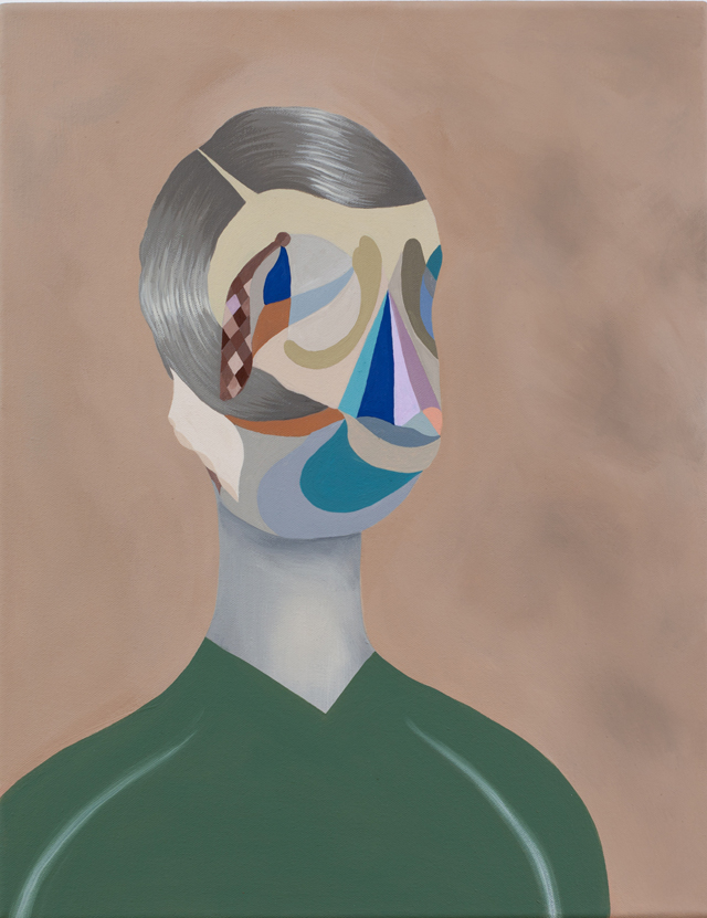 MICHELLE HANLIN  Great Great  2011  acrylic on canvas 45.5 × 35.5 cm