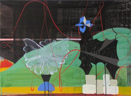 JULIAN HOOPER  Rene  2012  acrylic on linen 56 ×76 cm