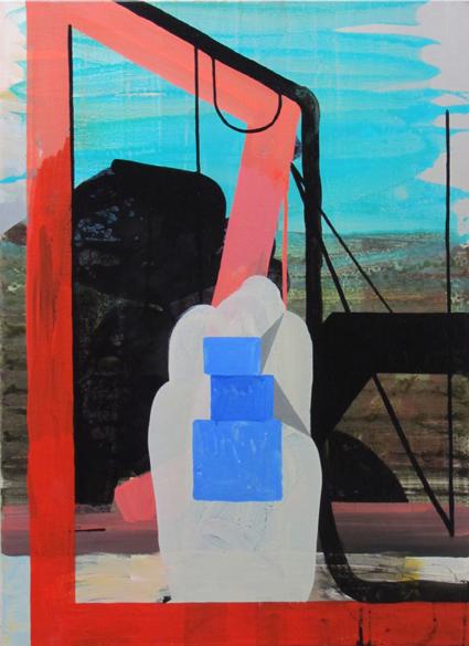 JULIAN HOOPER  The wait  2012 acrylic on linen 76 ×56 cm