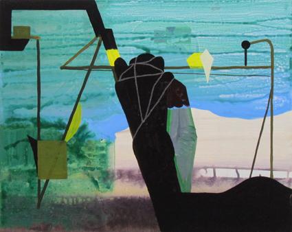 JULIAN HOOPER  The works  2012  acrylic on linen 35 ×45 cm
