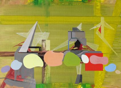 JULIAN HOOPER  Verse  2012 acrylic on linen 56 ×76 cm