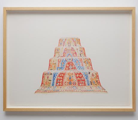 ANNA KRISTENSEN Pyramid (East)2010 colour pencil on paper 74 ×94 cm