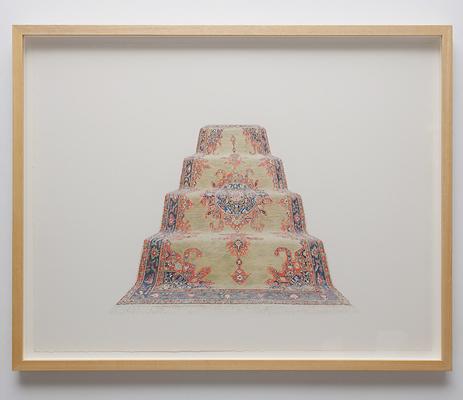 ANNA KRISTENSEN  Pyramid (South)  2010 colour pencil on paper 74 ×94 cm