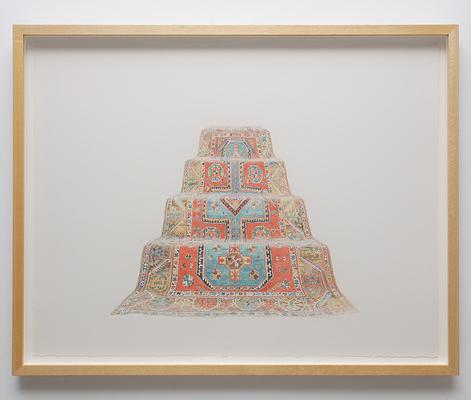 ANNA KRISTENSEN Pyramid (West)2010 colour pencil on paper 74 ×94 cm