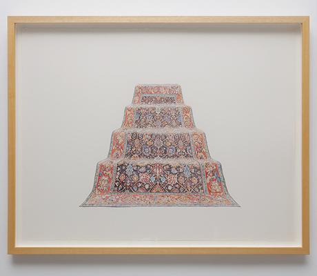 ANNA KRISTENSEN  Pyramid (North)  2010 colour pencil on paper 74 ×94 cm