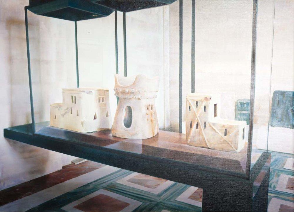 ANNA KRISTENSEN  Castles  2011 oil on linen 61 ×84 cm