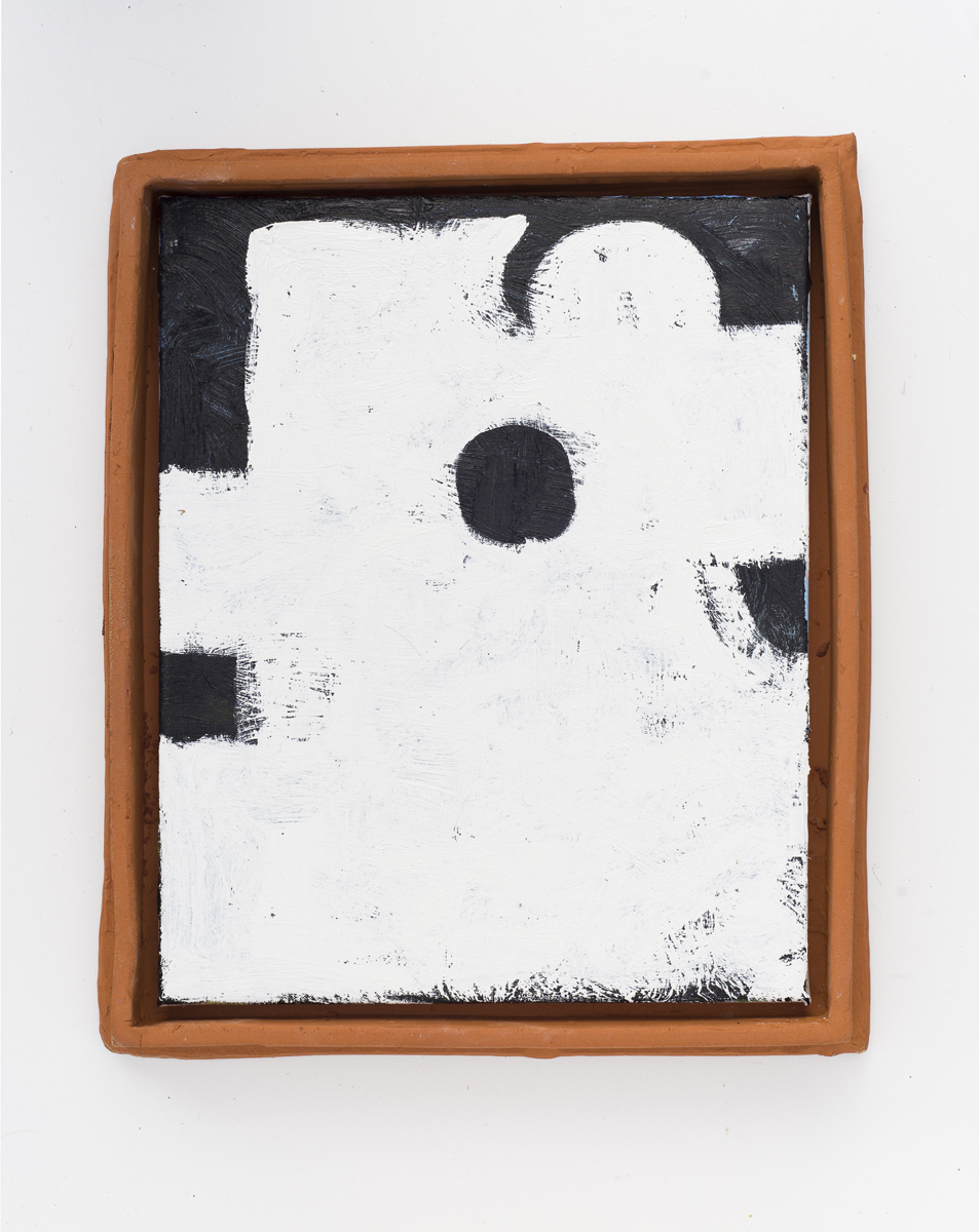 JAKE WALKER  Untitled  2015 oil on linen with earthenware frame 42 × 35 cm