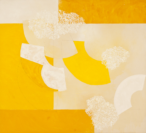 DENISE GREEN  Into Stillness  2014 acrylic and pencil on canvas 117.5 × 130.5 cm