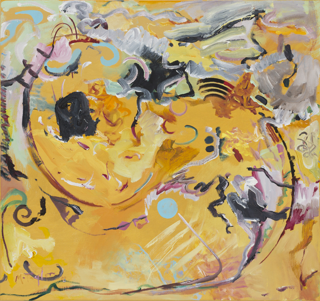 MICHAEL TAYLOR  Farmland  2013 oil and oil stick on linen 76 × 81 cm