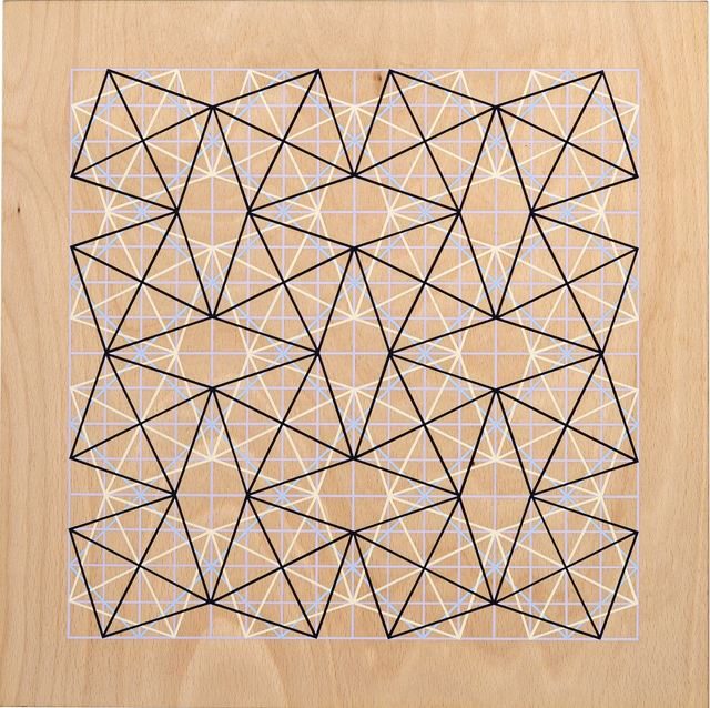 ADRIAN MCDONALD  Untitled 1  2012 flash on plywood 40 × 40 cm