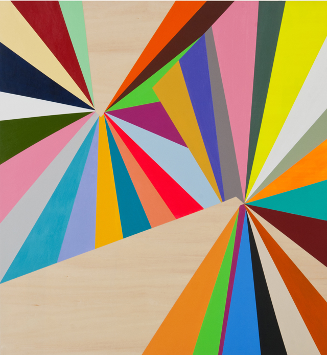 KYLE JENKINS  Position Point #26  2012 acrylic on board 70 × 65 cm
