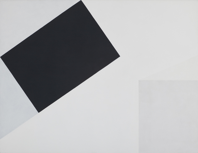 LYNNE EASTAWAY  Tilt  2011 gesso and acrylic on linen 153 × 199 cm