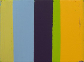 MICHAEL GRAEVE  Sequence and Simultaneity, Front and Side No. 21  2007-2011 oil on linen 31 × 41 cm