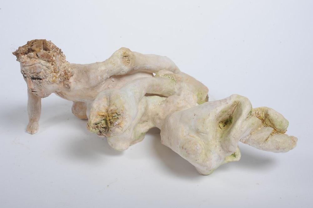 NAOMI ELLER  Metamorphosis II  2014 Ceramic, oil paint, wax and shellac 44 ×40 ×22 cm