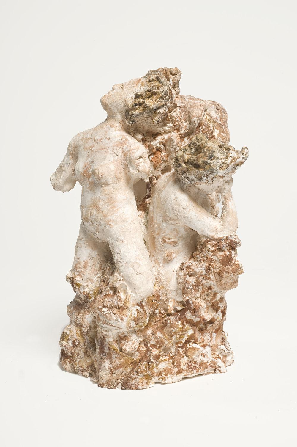 NAOMI ELLER  The Three Fates I  2012 Ceramic, oil paint, shellac and wax 29 ×26 ×18 cm