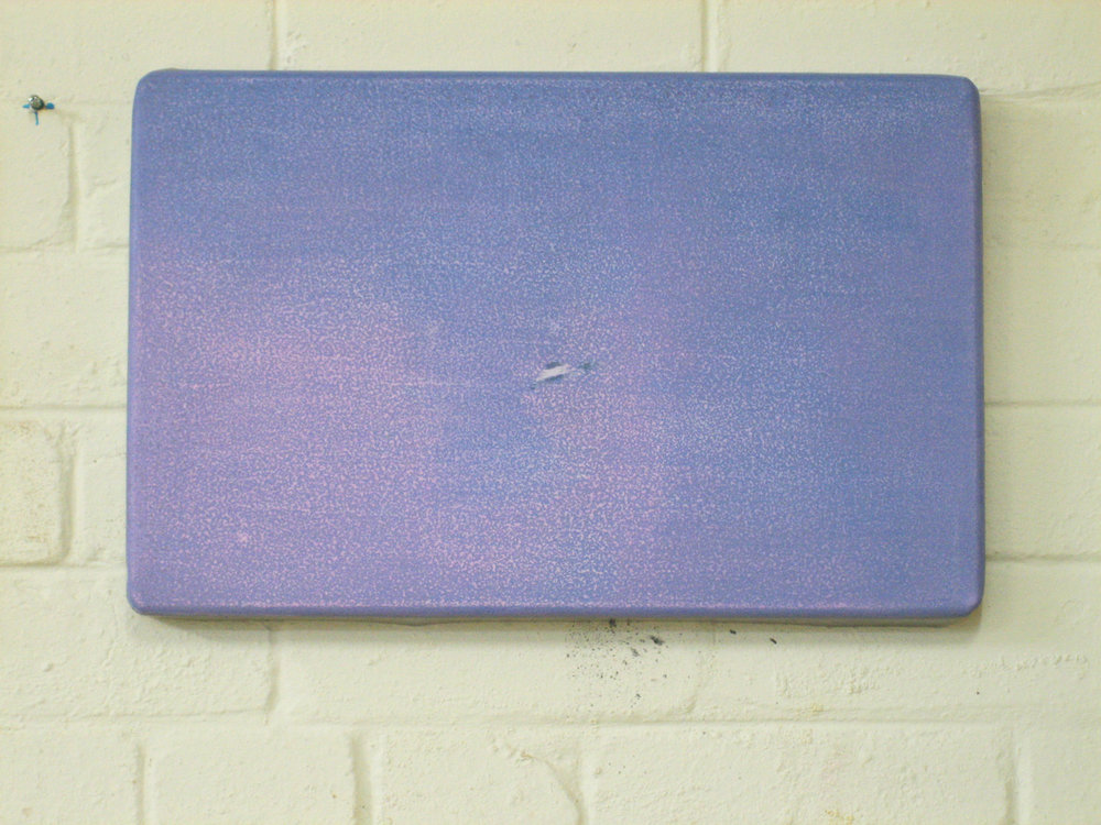 ADAM NORTON  UFO Tray 1  2006 acrylic and enamel on steel 30 ×47 cm