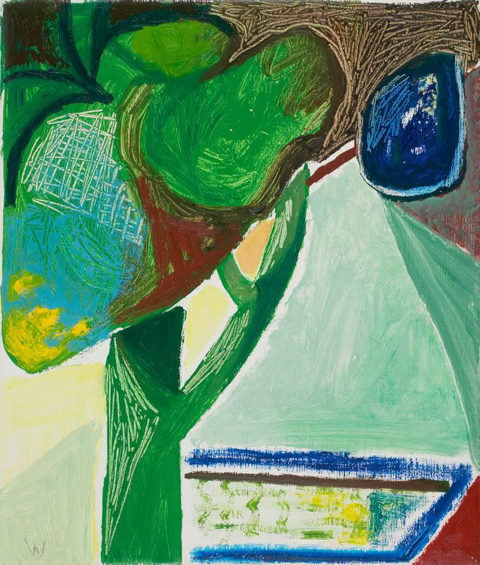 BRADD WESTMORELAND  Below Blue Stone Hill  2006 oil on canvas 30.5 × 25.5 cm