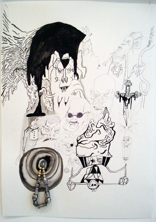 MATTHEW HOPKINS  IT (it) The Return of IT  (various drawings) 2007  Horrible IT (with trinket)