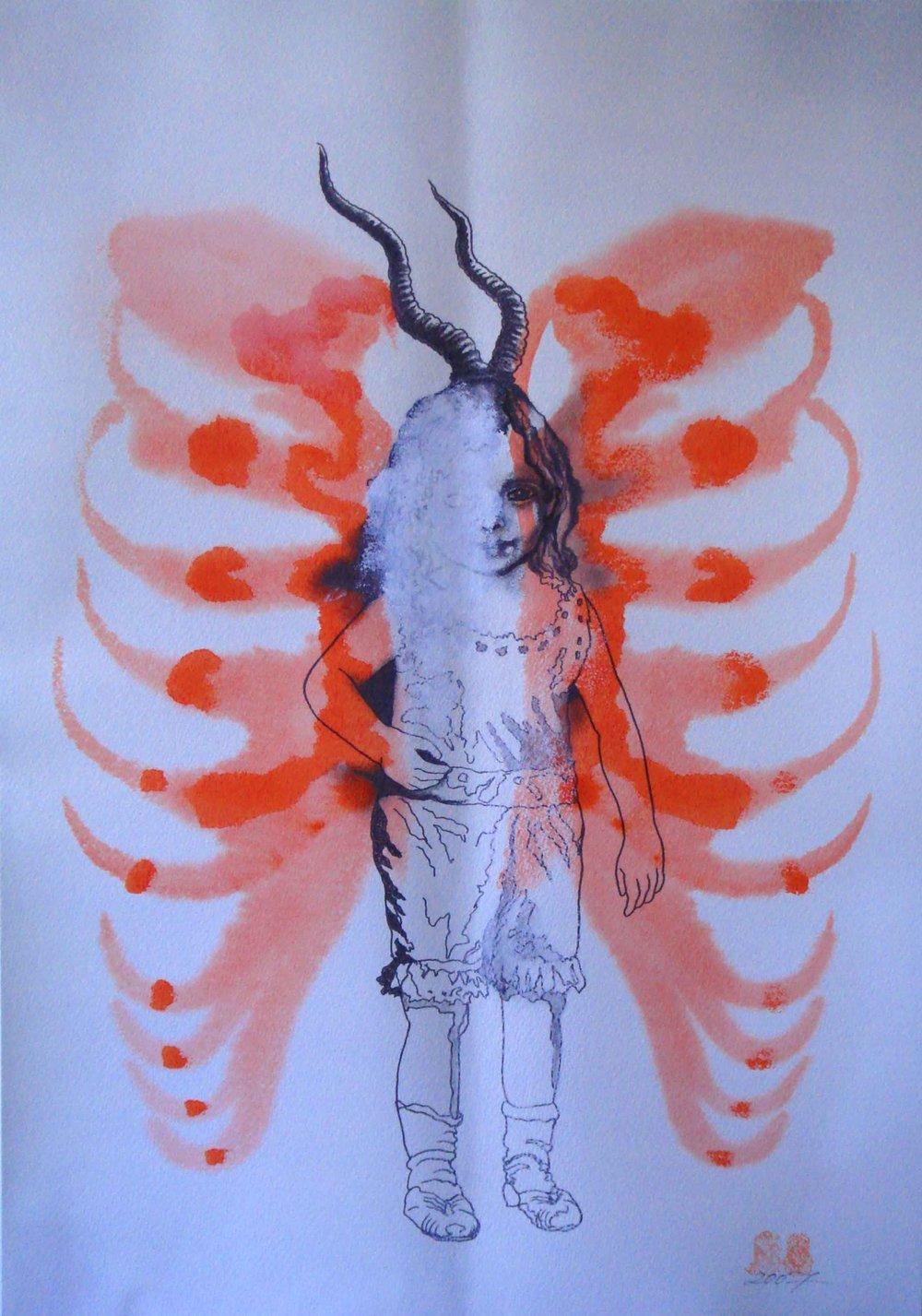 NANA OHNESORGE  Nature Studies #1  Watercolour, pencil, pigment pen, pastel, oil pastel & gouache on paper 59.4 ×42 cm
