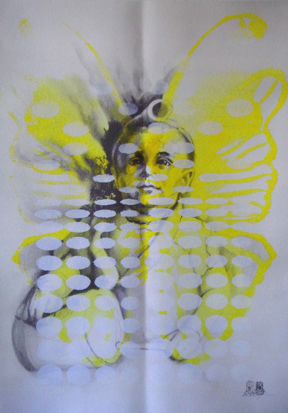 NANA OHNESORGE  Nature Studies #2    Watercolour, pencil, graphite& acrylic paint on paper 59.4 ×42 cm
