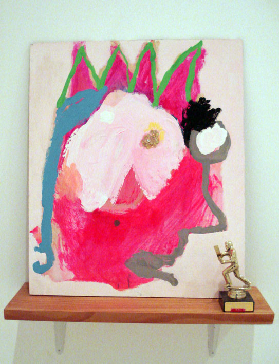 TOM POLO  I love you, even though you lost 2007 mixed media on board, found trophy & shelf