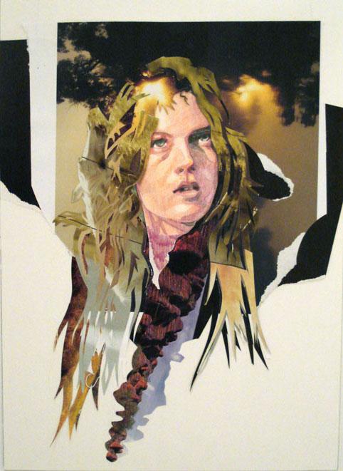 PHILL WILLIAMS  Miranda 2007  coloured pencil and collaged paper 36 ×26 cm