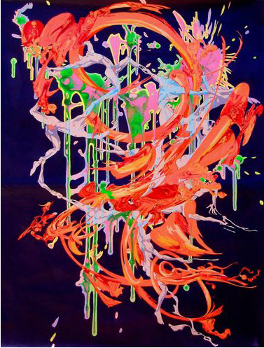 PHILL WILLIAMS  Fire And Ice cream  2007 acrylic on paper 130 × 94 cm