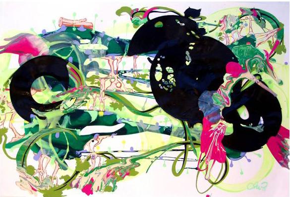PHILL WILLIAMS  Dark Dark House In A Dark Dark Wood 2007 acrylic on paper 65 ×94 cm