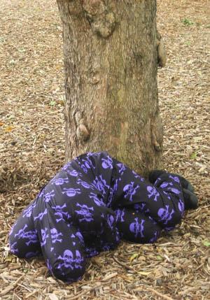 ADAM NORTON  Camouflage Suit Experiment  2005 – 2008, DVD, 6 camouflage suits,5 camouflage shoes, 6 assorted cases,wooden coat-hangers