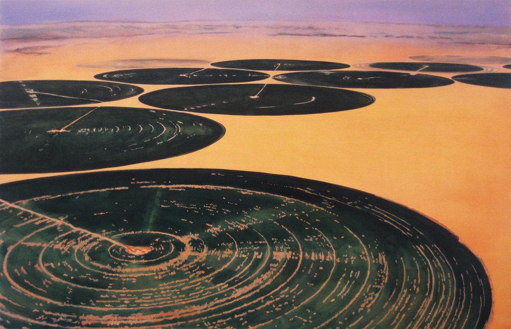 ADAM NORTON  Terraforming  2008 acrylic on canvas 137 ×213 cm