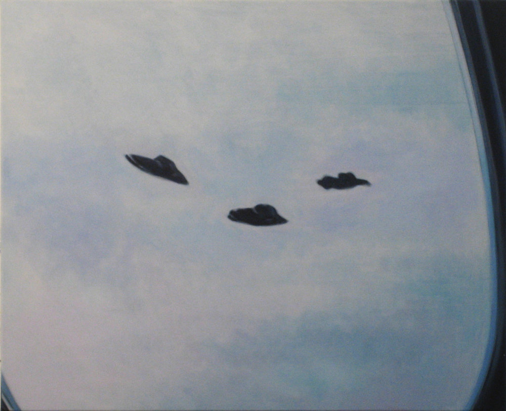 ADAM NORTON  Yuri Gellar's Aliens  2008 acrylic on canvas 85 ×108 cm