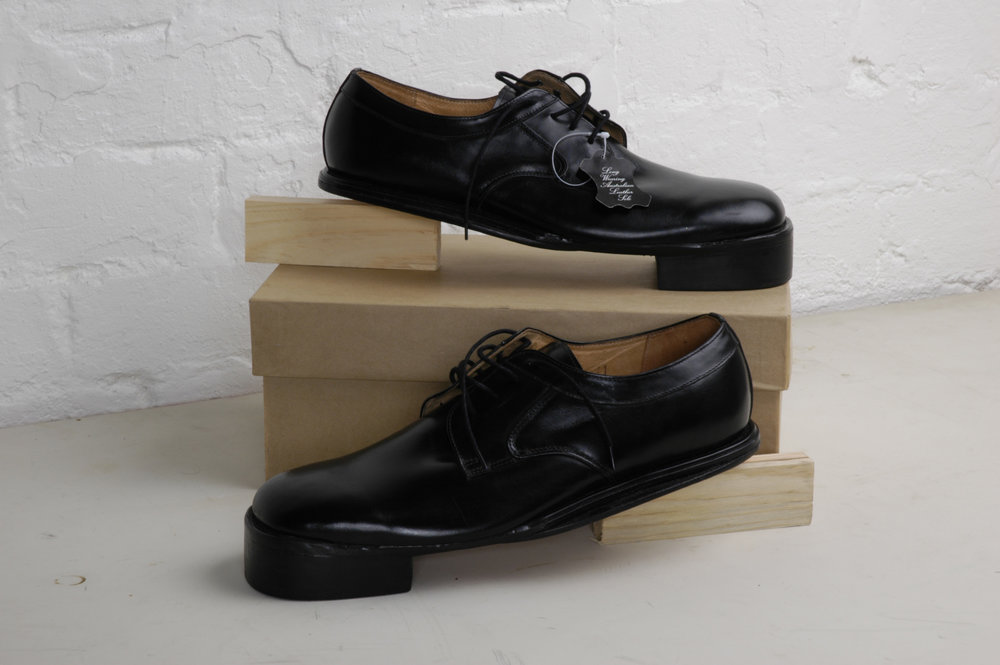 ADAM NORTON  Reverse Shoes  2005 – 2008 adapted men's shoes,A4 framed digital photograph